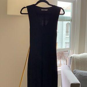T Alexander Wang Black Midi Dress